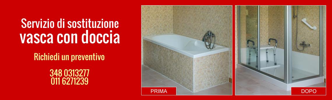 Servizio di sostituzione vasca con doccia